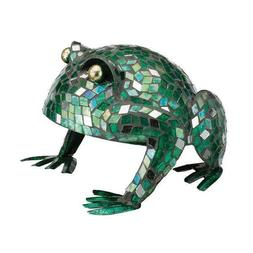 Frog Metal Mosaic Glass Garden Yard Art Decor Statue Figurin