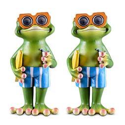 Frog Solar Garden Decorations Figurine | Outdoor LED Decor F