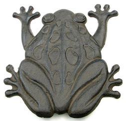 Frog Stepping Stone Cast Iron Yard Garden Animal Outdoor Dec