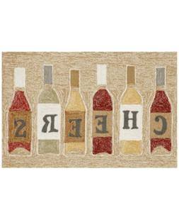 "Liora Manne Front Porch Indoor/Outdoor Cheers Rose 2'6"" x 4'"