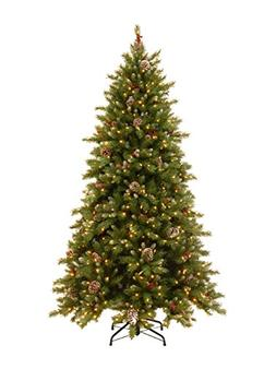 National Tree 6.5 Foot Frosted Berry Memory-Shape Tree with