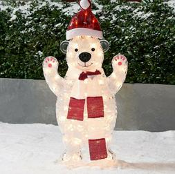 Frosty Teddy Bear Gift Outdoor Holiday/Christmas Yard Lighte