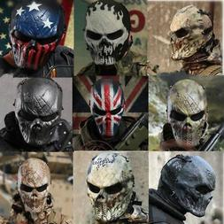 Full Face Skull Skeleton Shaped Mask CS Airsoft Paintball Ta