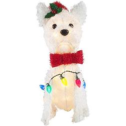 Holiday Time Fun and Festive Holiday Prelit Fluffy White Ter