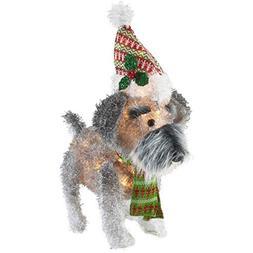 Holiday Time Fun Festive Prelit Fluffy Schnauzer 25-Inch Lig