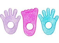 Munchkin Fun Ice Chewy Teether, 3 Pack, Blue/Pink/Purple