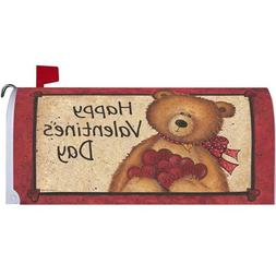 Fuzzy Bear Valentine's Day Magnetic Mailbox Cover Holiday He