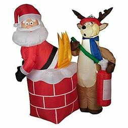 Gemmy Inflateables Holiday G08 87191 Air Blown Santa on Fire