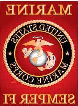 Breeze Decor G158057 Marine Corps Americana Military Impress