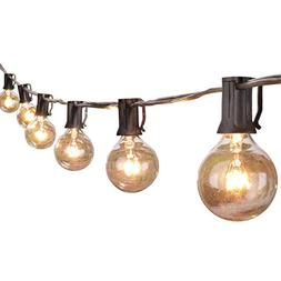 25Ft G40 Globe String Lights with Clear Bulbs,UL listed Back