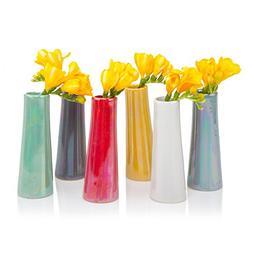 Chive - Galaxy, Small Cylinder Ceramic Bud Flower Vase, Uniq