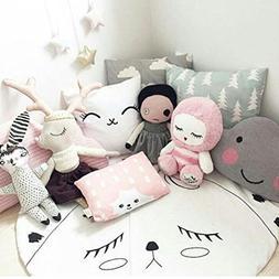 CieKen Children's Baby Game Blanket Cartoon Smiling Face Rou