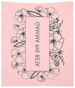 Gamma Phi Beta Flower Box Wall Tapestry for Bedroom or Dorm