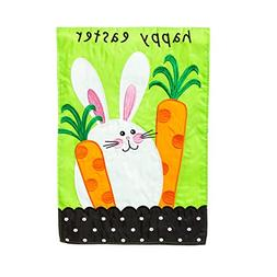 Evergreen Flag Garden Applique Happy Easter
