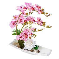 Garden Artificial Silk Flowers Lifelike Phalaenopsis Arrange
