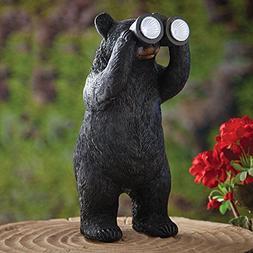 Bits and Pieces Garden Décor-Bear With Binoculars Solar Sta