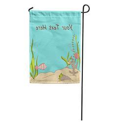 Semtomn Garden Flag Blue Water Under The Sea Whimsical Doodl