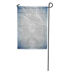 Semtomn Garden Flag Pattern Blue Toned Shot of Arabian Ceili