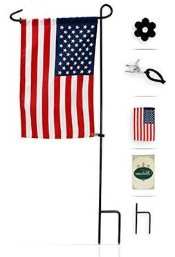 Garden Flag Stand with American Flag by GreenWeR: Wrought Ir