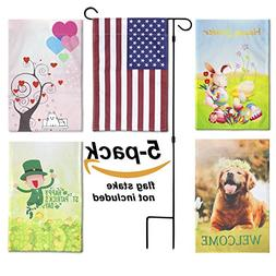 LOLOOP Garden Flags Double Sided Decorative Seasonal Flags 1