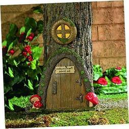 Garden Gnome Home Door in a Tree Art Pieces Outdoor Yard Dec