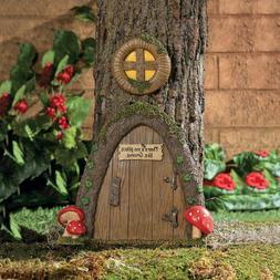 garden gnome home door in a tree