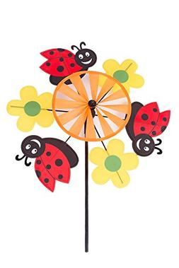 Garden Ladybugs and Flowers Windmill Pinwheel Spinner Kit fo