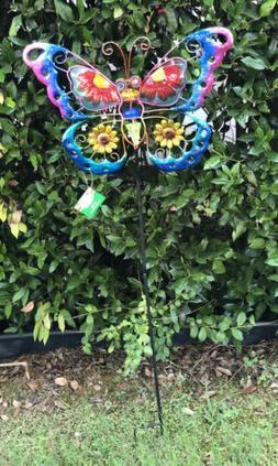 Garden Lawn Yard Decoration bird Green Butterfly glass & met