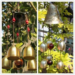 Garden Metal Wind Chimes Outdoor Yard Copper Bells Hanging D