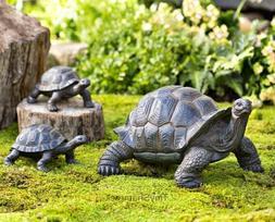 Garden Statues Turtle Tortoise Family Yard Art Patio Landsca