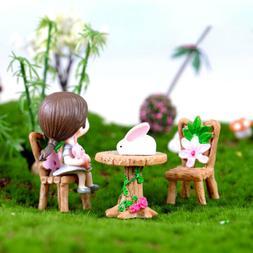 Garden Yard Ornament Miniature Resin Figurine Craft Plant Po