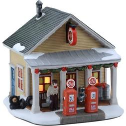 "Holiday Time 7"" Gas Station Christmas Village"