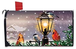 The Gathering Winter Mailbox Cover Lamp Post Cardinals Stand
