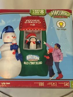 Gemmy 8' Lighted Snowcones Christmas Airblown RARE Collector