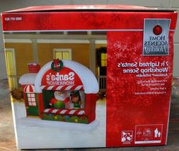 Gemmy Home Accents Christmas 7 ft Santa's Workshop Scene Air