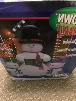 Gemmy Christmas 8' Snowman Carolers Inflatable NEW