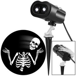 Gemmy Halloween Light Projector, Whirling Skulls LED Spotlig