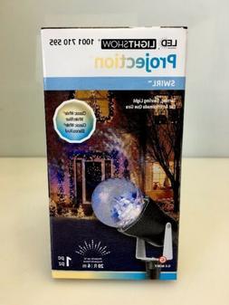 Gemmy LED Lightshow Projection Kaleidoscope Blue/White/Class
