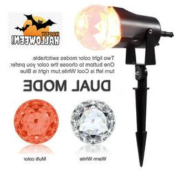 Gemmy Projection LED Multi Effect Projector Orange+White for