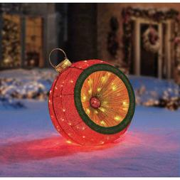 """GIANT 34"""" Christmas Holiday Prelit LED Indoor / Outdoor Mesh"""