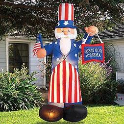 Giant Airblown Uncle Sam Yard Decoration - Inflatable July 4