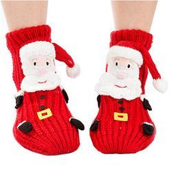 Girl's Cute Princess Set of 2 Animals Knit Christmas Stockin