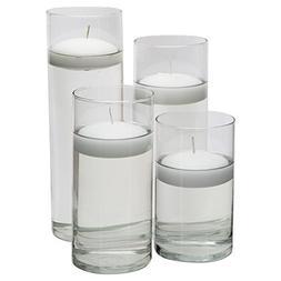Royal Imports Glass Cylinder Vases - SET OF 4 - Including 4