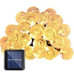 Qedertek Globe Outdoor Solar String Lights 20ft 30 LED Fairy