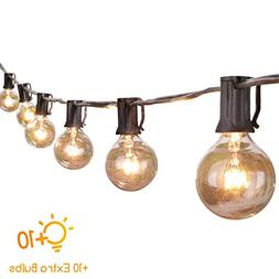 50 Ft. Globe String Lights with 60 G40 Clear Blubs , UL list