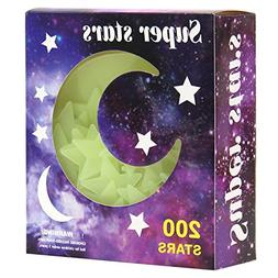Glow in the Dark Star Stickers Decal | 1 Pack of 200pcs | Ho