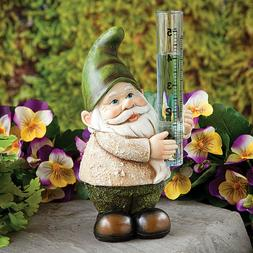 Gnome Rain Gauge - Charming Hand-Painted Sculpture For Garde