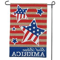 God Bless America Garden Flag For July 4, Flag Day, Celebrat
