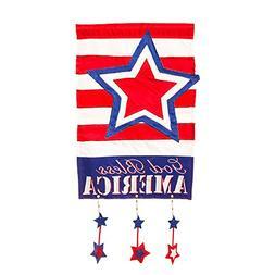 Evergreen Flag & Garden God Bless America Vertical Flag