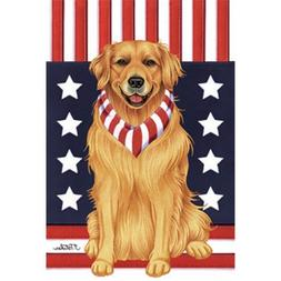 Golden Retriever Patriotic Breed Garden Flag